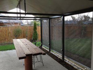 Weather Wise Gabled PVC Pergola with detachable side wall